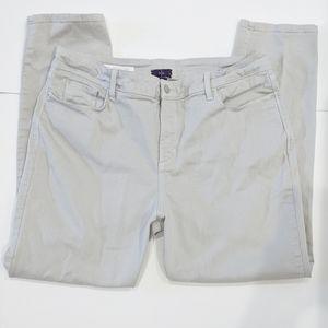 NYDJ Gray Clarissa Ankle High Rise Jeans sz 16